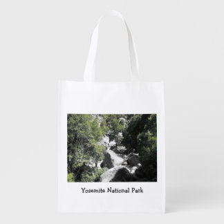 A bolsa de compra reusável do parque nacional de sacolas ecológicas para supermercado