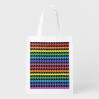 A bolsa de compra reusável torcida das cores sacola ecológica para supermercado