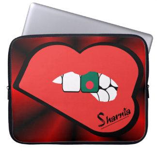 "A bolsa de laptop 15"" de Bangladesh dos lábios de Capas Para Notebook"