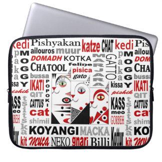 """A bolsa de laptop 15"""" do neopreno de três gatos capa de notebook"""