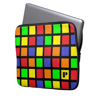 A bolsa de laptop brilhante do monograma dos capa para notebook