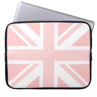 A bolsa de laptop BRITÂNICA cor-de-rosa milenar da Capa De Notebook