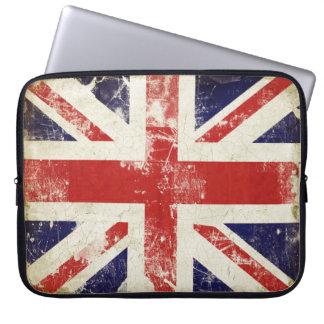 A bolsa de laptop com a bandeira afligida de Grâ B Bolsas E Capas Para Computadores