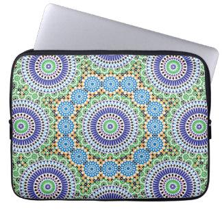A bolsa de laptop com mosaico capas de computadores notebooks