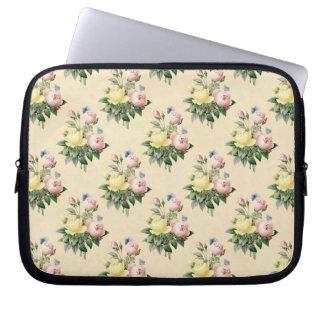 A bolsa de laptop cor-de-rosa do teste padrão de sleeve para laptop