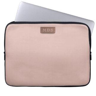 A bolsa de laptop cor-de-rosa milenar magro capa para notebook