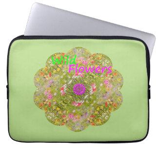 A bolsa de laptop da arte da mandala do Wildflower Bolsa E Capa De Notebook