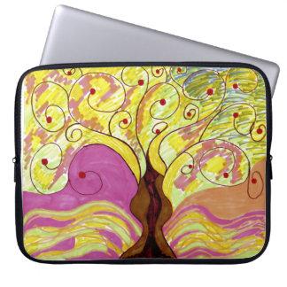 A bolsa de laptop da árvore capas de computadores notebooks