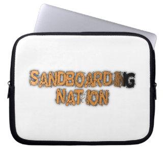 A bolsa de laptop da nação de Sandboarding Capa De Notebook