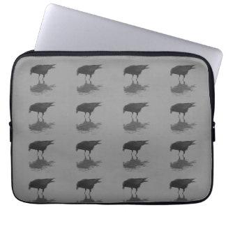 A bolsa de laptop da repetição do corvo de Edgar Capa De Notebook