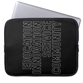 """A bolsa de laptop das """"colunas"""" de TCSPP Bolsa E Capa De Notebook"""