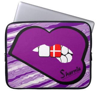 A bolsa de laptop de Dinamarca dos lábios de Bolsas E Capas De Notebook
