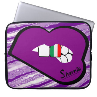 A bolsa de laptop de Italia dos lábios de Sharnia Capas Para Notebook
