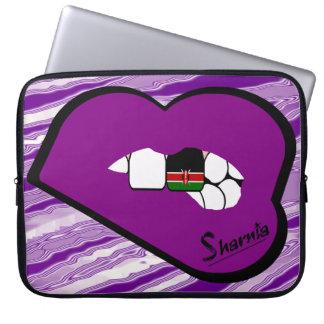 A bolsa de laptop de Kenya dos lábios de Sharnia Capa Para Notebook