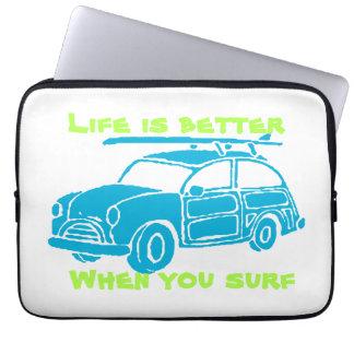 A bolsa de laptop do carro do surf bolsas e capas para computadores