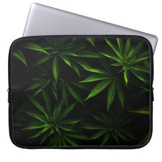 A bolsa de laptop do estilo da erva daninha 15 bolsa e capa para computadore