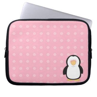 A bolsa de laptop do neopreno do pinguim 10 polega bolsas e capas para computadores