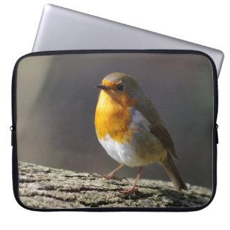 A bolsa de laptop do pisco de peito vermelho sleeve para laptop