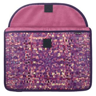 A bolsa de laptop do roxo de Pixelated Bolsa Para MacBook Pro