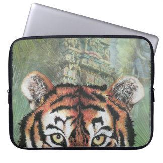 A bolsa de laptop do templo do tigre capa para notebook