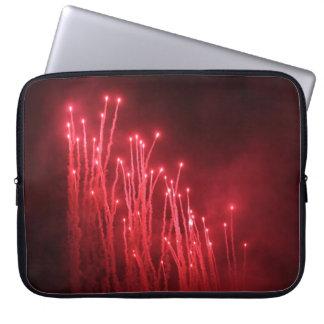 A bolsa de laptop dos fogos-de-artifício capa para computador