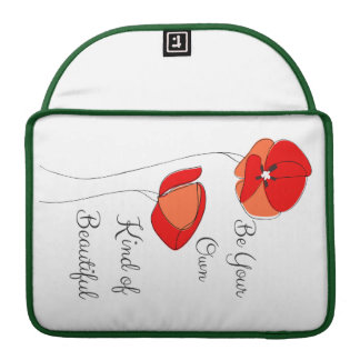 A bolsa de laptop floral bonita bolsa para MacBook pro