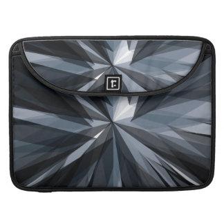 A bolsa de laptop geométrica escura bolsa MacBook pro