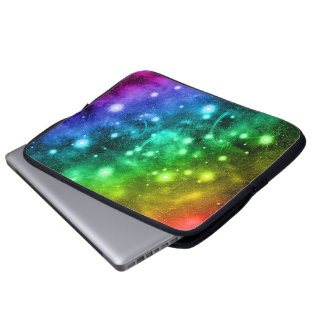 A bolsa de laptop mágica do arco-íris do espaço da capas para computadores