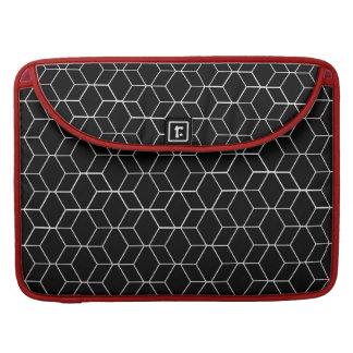 A bolsa de laptop modelada geométrica preta bolsa para MacBook pro