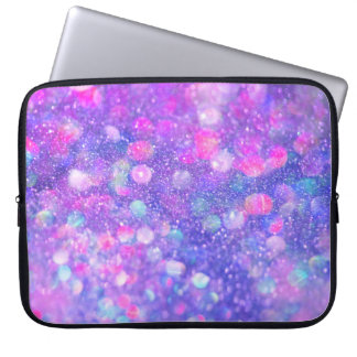 A bolsa de laptop moderna Glam do brilho roxo Capas Para Laptop