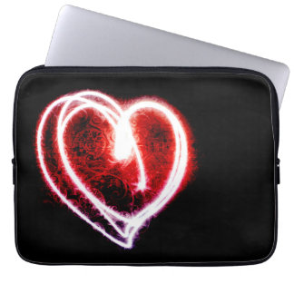 A bolsa de laptop na moda com coração vermelho bolsa e capa para computadore