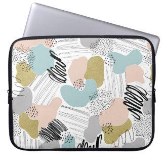 A bolsa de laptop Pastel abstrata Capas Para Laptop