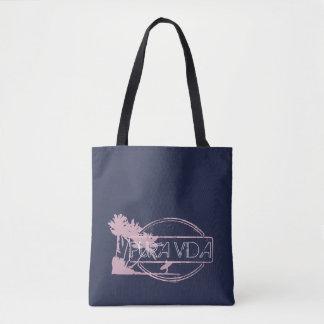 A bolsa de praia de Pura Vida da menina do