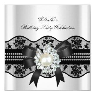 A bolsa mensageifesta de aniversario elegante convite quadrado 13.35 x 13.35cm