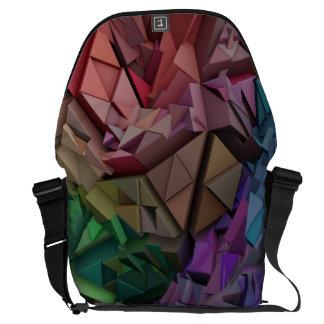 A bolsa mensageiro abstrata colorida das formas 3D