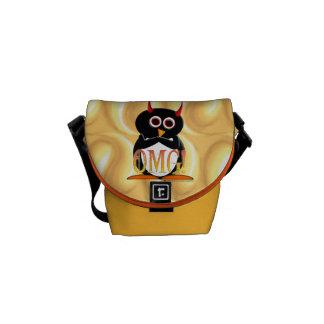 A bolsa mensageiro amarela do rickshaw da luz do s
