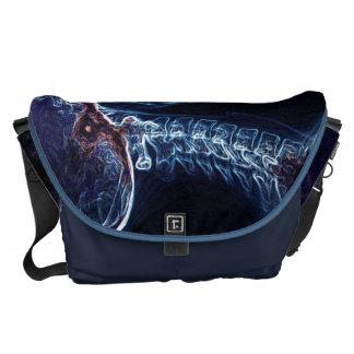 A bolsa mensageiro azul da C-espinha (grande)