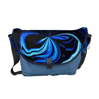 A bolsa mensageiro azul do abstrato II da borbolet