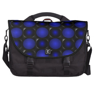 A bolsa mensageiro azul do design do tabuleiro de  maleta para notebook