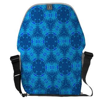 A bolsa mensageiro azul elétrica do filamento da
