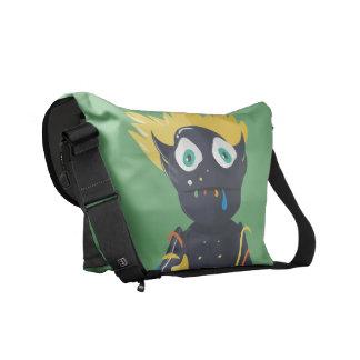A bolsa mensageiro bonito do zombi