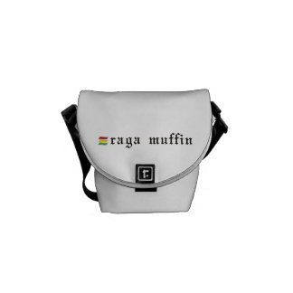 A bolsa mensageiro branca do muffin de Raga
