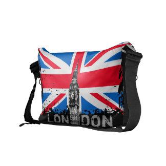 A bolsa mensageiro BRITÂNICA da bandeira de Londre