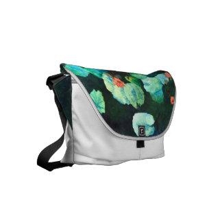 A bolsa mensageiro colorida do lírio