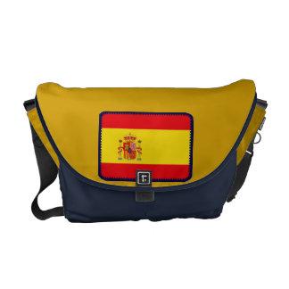 A bolsa mensageiro da bandeira da espanha