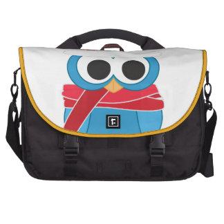 A bolsa mensageiro da coruja do inverno maleta para laptop