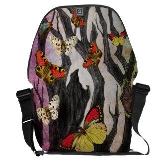 A bolsa mensageiro da floresta da borboleta