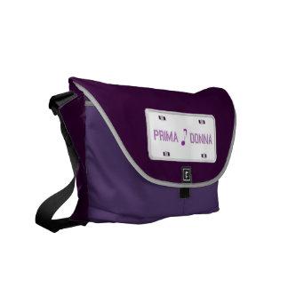 A bolsa mensageiro da matrícula de Prima Donna