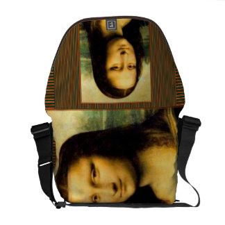 A bolsa mensageiro do correio de Mona Lisa