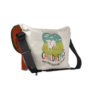 A bolsa mensageiro do costume da arte das crianças